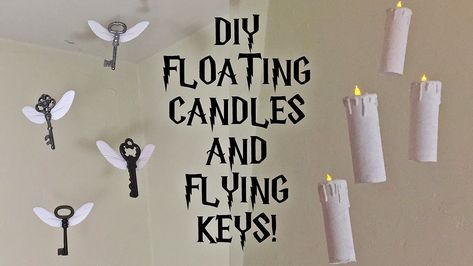 DIY Harry Potter Floating Candles and Flying Keys