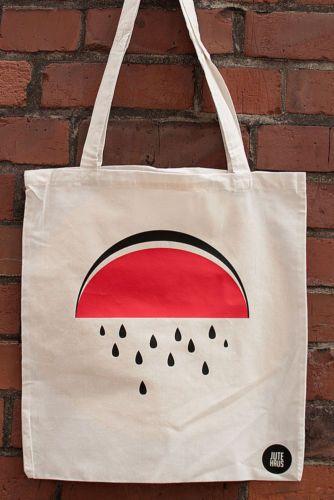 Jutebeutel, Wassermelone, Vintage, Stofftasche, Mode, neu, Jutehaus   eBay