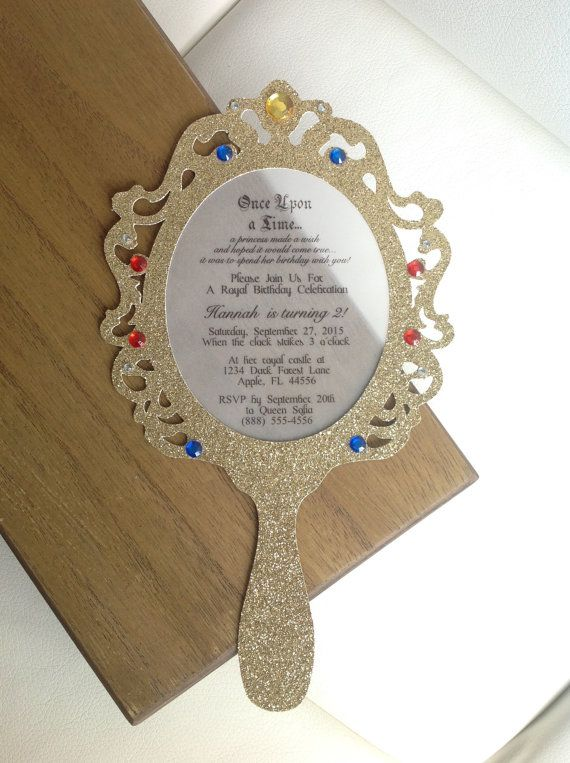 Die Cut Hand Mirror Frame Set of 2 by ThePolkaDottedRoom on Etsy
