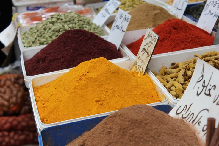 Variety of spices in Acco market http://www.eggedtours.com/galilee-golan-heights/caesarea-acre-rosh-hanikra.aspx