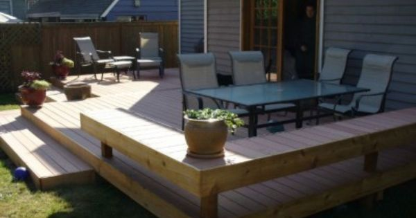 How to Make a Ground Level Wooden Deck | Wooden Decks, Ground ...