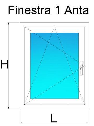 Finestre in pvc 1 anta bianco venato prezzi e offerte for Offerta finestre pvc