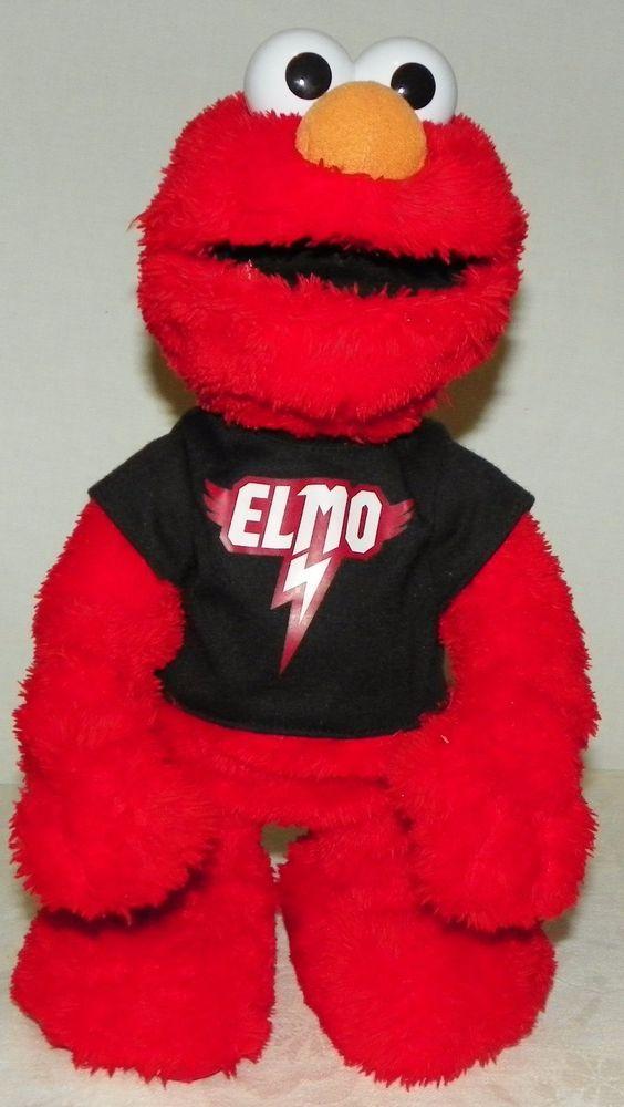 Rock Star Elmo Sings Dances Talks Works Great See Video #Hasbro