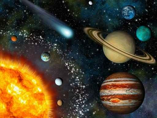 Realistic 3D Solar System Wallpaper Wall Decal