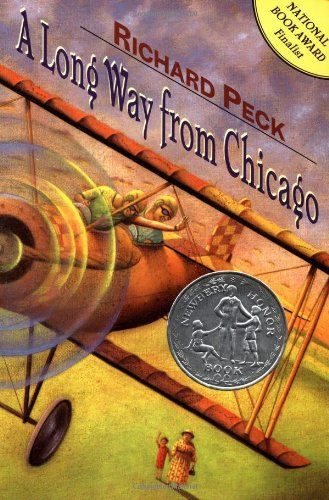 """A Long Way From Chicago"" by Rickard Peck-- This book is hilarious! We've all laughed out loud while listening to it. Grandma's character is so loveable and grouchy at the same time! Here's a description: What happens when Joey and his sister, Mary Alice -- two city slickers from Chicago -- make their annual summer visits to Grandma Dowdel's seemingly sleepy Illinois town?"