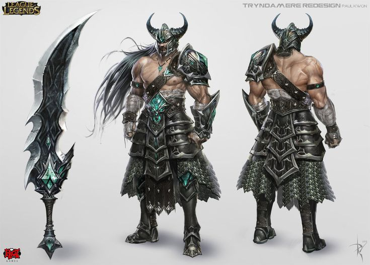 Character Design League Of Legends : Tryndamere concept art league of legends character