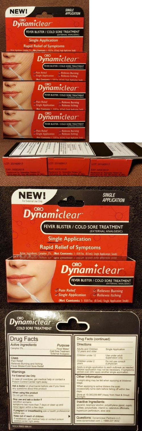 Cold Sores: (3) Oro Dynamiclear Fever Blister And Cold Sore Treatment ~ 0.017 Oz Each~Exp 2019 -> BUY IT NOW ONLY: $34.99 on eBay!