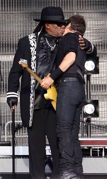 A hug and a kiss from the Big Man for the Boss.