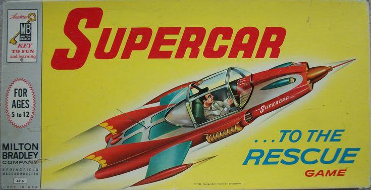 collectible board games | Milton Bradley 1962 Vintage Board Game of Supercar