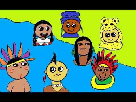 """12 de Octubre para niños (Día de la """"Raza"""") Muy buen cuento para ninos y para mostrar la verdadera historia sobre el 12 De Octubre. Para la clase de Espanol se pueden poner los subtitulos en ingles. Aunque la palabra Mexico aparece incorrecta."""