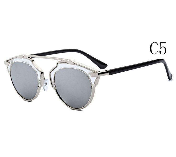 Botetrade New Katzenaugen-Sonnenbrille UV400 reflektierenden Spiegel Farbe C5