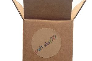CraftWhat- craft subscription box. Get a box of mystery craft supplies, make something with them. Share your results with other people who got the same box. Sounds like fun!