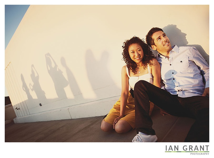 I see what you did there- awesome idea with the shadows telling a story!    Griffith Park Observatory Engagement Photos – Molly and Sam