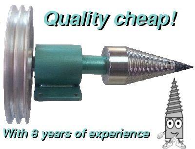 Splitting Cones - log splitter - splitting machine www.logsplitterscrew.com