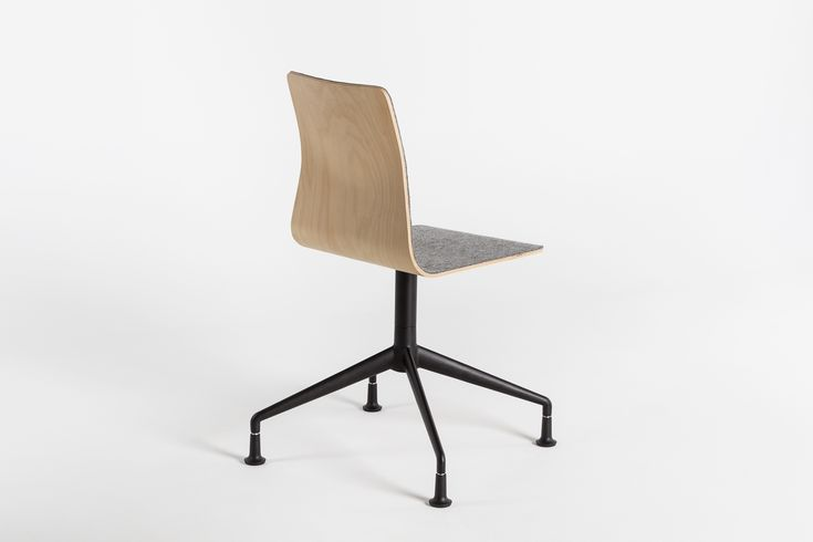 LINAR PLUS #chairs, designed by #PiotrKuchciński with a smooth line connected seat, made of #plywood with thick wool #felt. 2016 #novelty