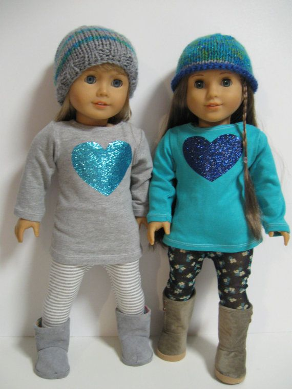 American Girl Doll Clothes Turquoise Heart by 123MULBERRYSTREET