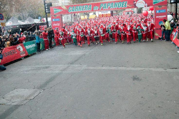 Preparados, listos ¡Navidad! Largan los Papá Noeles para batir el Record Guinness en la Carrera de Papá Noel del Corte Inglés en Madrid. (960×638)