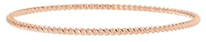 Judith Ripka Rose Gold Plated Sterling Silver Textured Skinny Bangle