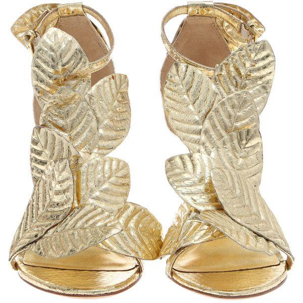 KOTUR Gilda Metallic Snakeskin Heel (£425) ❤ liked on Polyvore featuring shoes, sandals, heels, heeled sandals, ankle strap heel sandals, high heeled footwear, grecian sandals and snake skin sandals