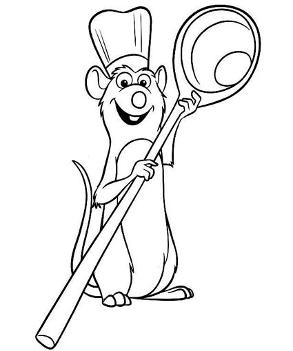 printable ratatouille coloring pages