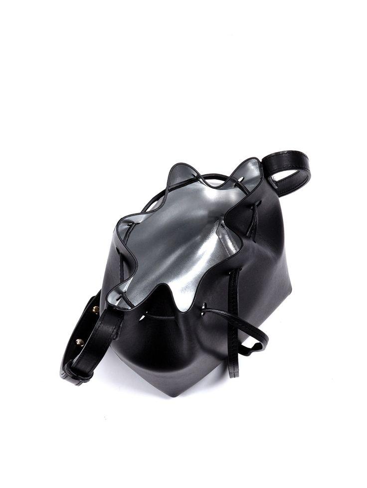 Mini Mini silver-lined leather bucket bag   Mansur Gavriel   MATCHESFASHION.COM UK