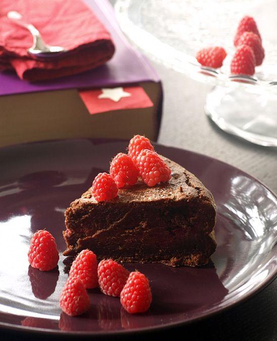 torta cioccolato fondente e lamponi di Hermé