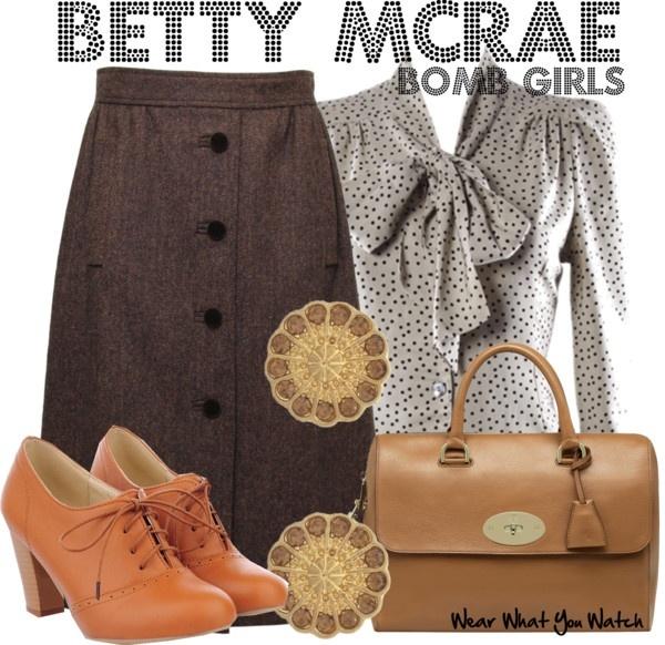Inspired by Ali Liebert as Betty McRae on Bomb Girls - Shopping info!