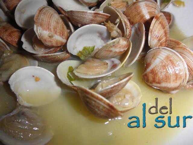 La cocina malagueña-Alsurdelsur: almejas malagueñas salteadas