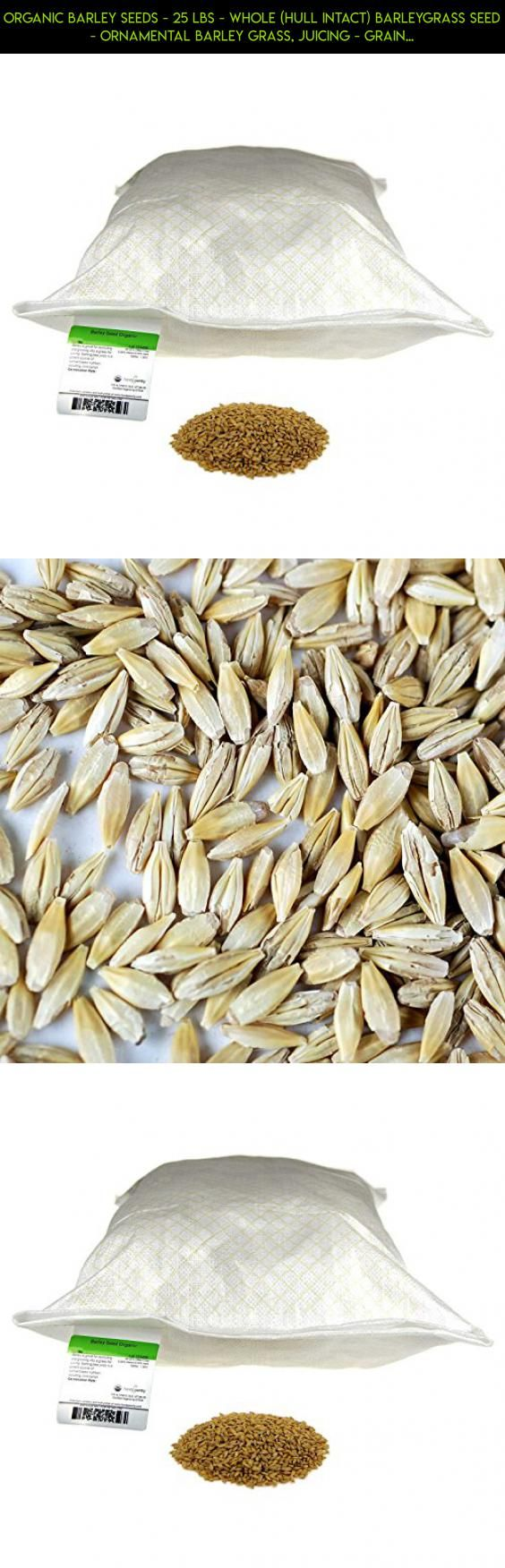Organic Barley Seeds - 25 Lbs - Whole (Hull Intact) Barleygrass Seed - Ornamental Barley Grass, Juicing - Grain for Beer Making, Emergency Food Storage & More #fpv #parts #plans #storage #racing #tech #kit #products #pantry #drone #camera #shopping #technology #gadgets