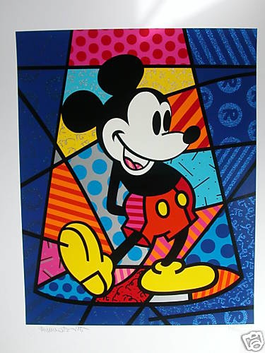 Romero Britto's Mickey Mouse Signed and Numbered | eBay
