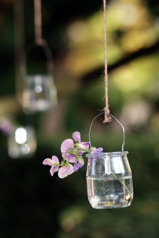 Petits pots en verre fleurs 2