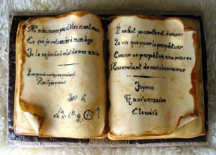 Top Les 25 meilleures idées de la catégorie Gâteaux livre ouvert sur  PH66
