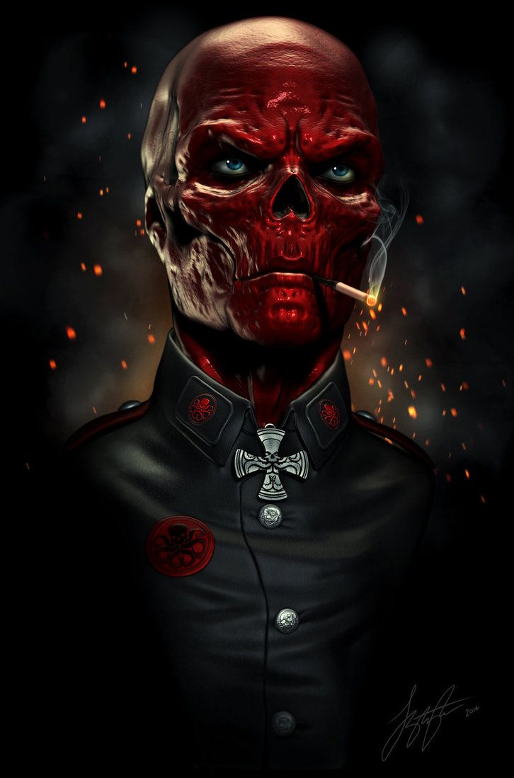 Red Skull- I have a confession to make. I only watched the first Captain America movie because the Red Skull was in it. :)
