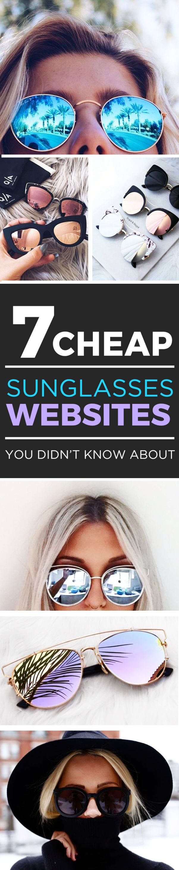 This list of cheap sunglasses websites is awesome!
