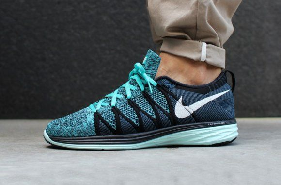 sports shoes 9cccf bd982 Nike Flyknit Lunar2 - Black Sport Turquoise   Kicks on the ground   Nike  shoes, Nike flyknit, Nike