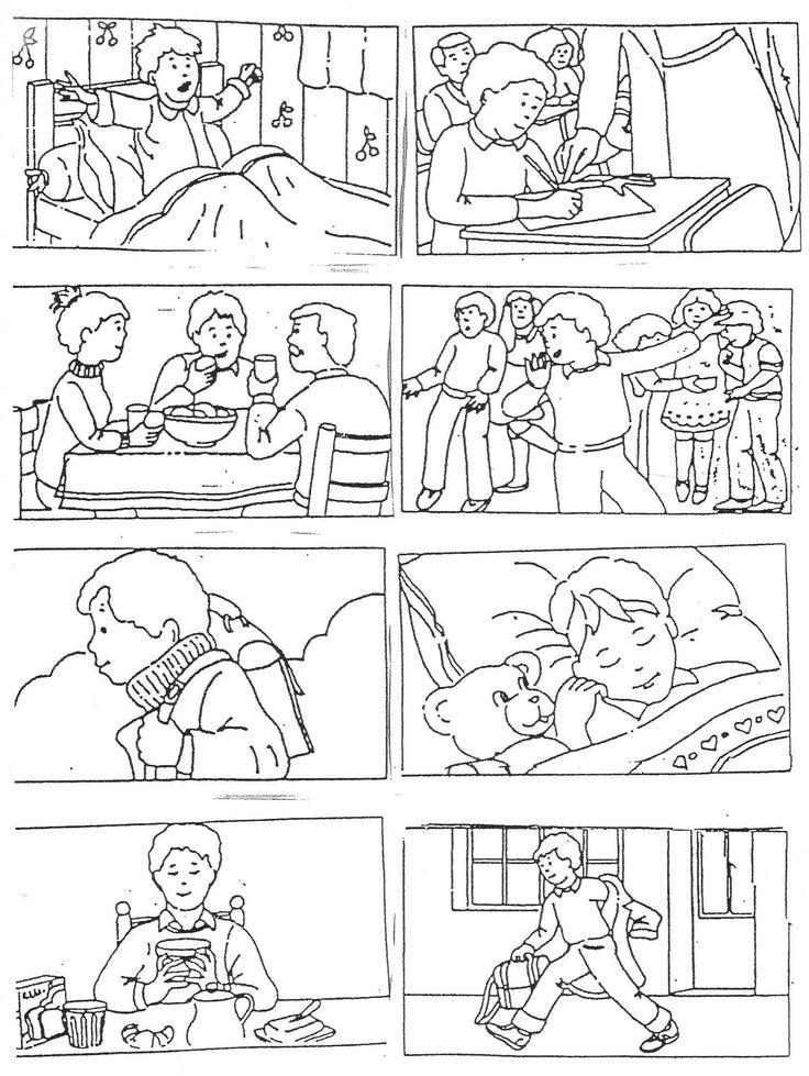 """Images séquentielles """"Une journée d'école"""" (8 images) - Rédaction au primaire"""