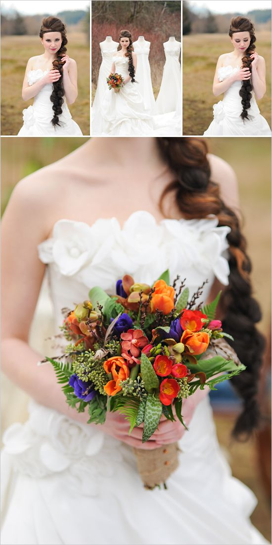 bouquet.  ignore the rest...: Wedding Inspiration, Wedding Hair, The Hunger Games, Wedding Bouquets, Bright Color, Weddings, Hunger Games Wedding, Wedding Flower, The Dresses