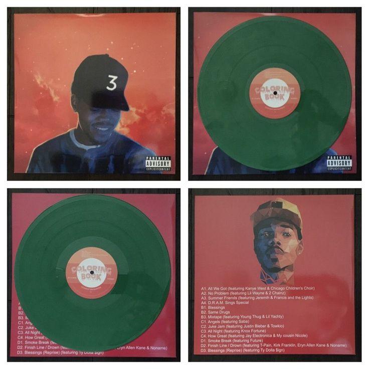 RARE CHANCE THE RAPPER COLORING BOOK GREEN KUSH COLOR VINYL 2 LP [post acid rap