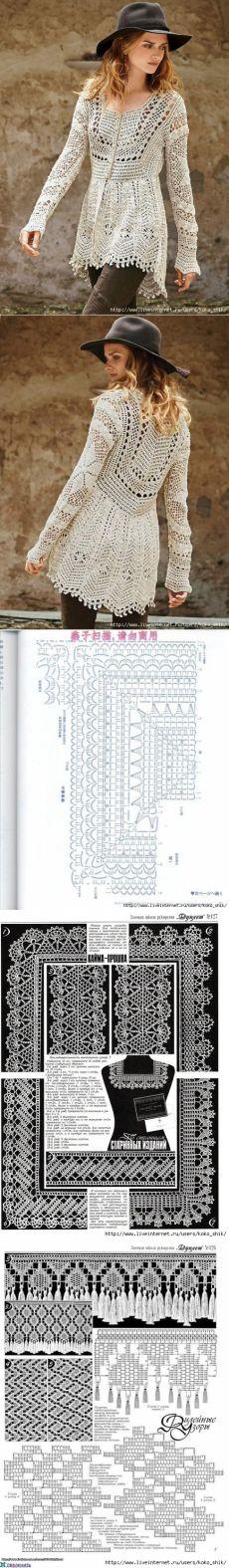 Вязание крючком - Два ажурных кардигана крючком. Этнический стиль Бохо