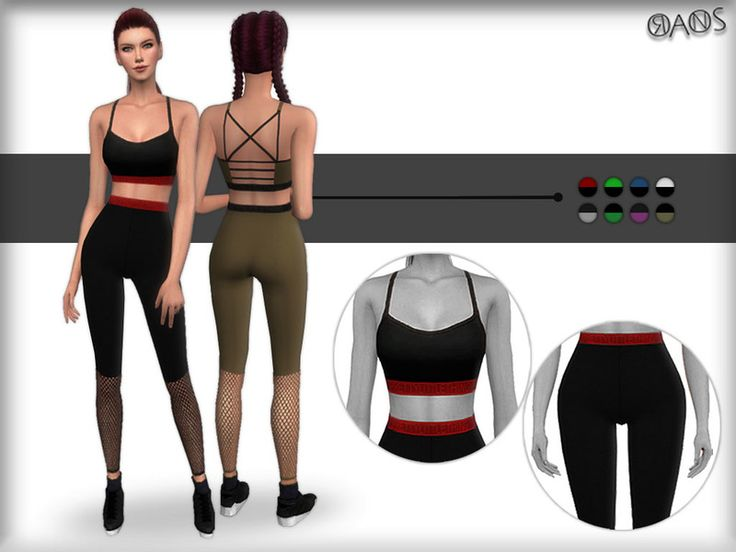 A new sport set (Top and Bottom) for female. I hope you like it. ^_^ Found in TSR Category 'Sims 4 Sets'