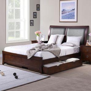 Packard Storage Bed (Queen Bed Size, Dark Walnut Finish)