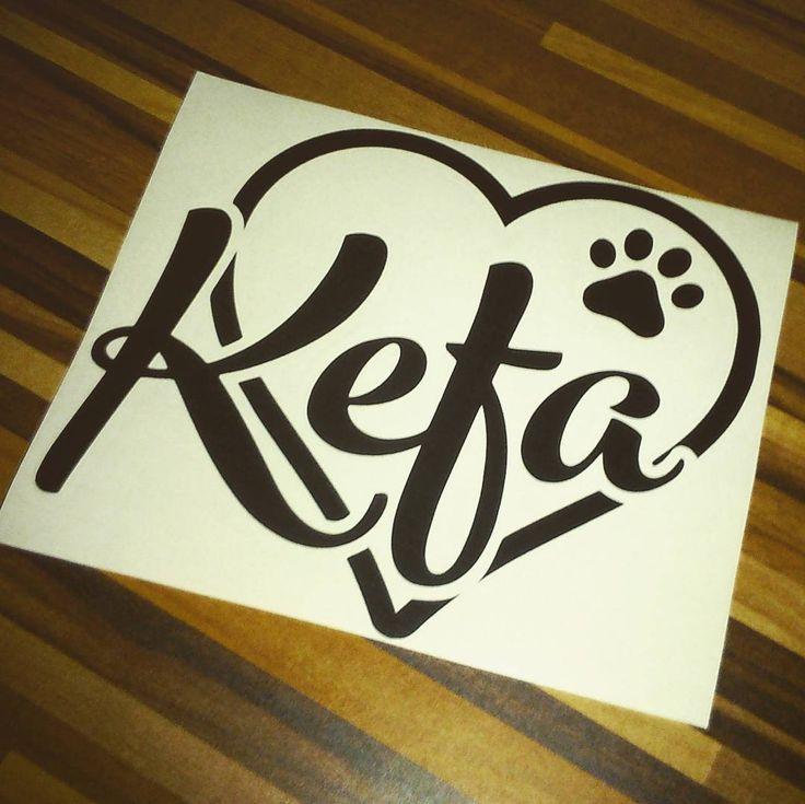 Nálepka | Sticker #kefa #sticker #carsticker #nalepka #nalepkNAauto #paw #decal #tlapka #propsy #4dogs #blackberry.cz #doglove #doglover #doglovers #milujusvehopsa
