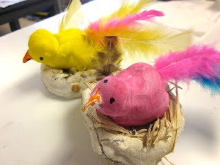 Art is Basic-- Art Teacher Blog: Birds and Nests by the First Graders
