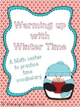Practice winter vocabulary with this cute math center!