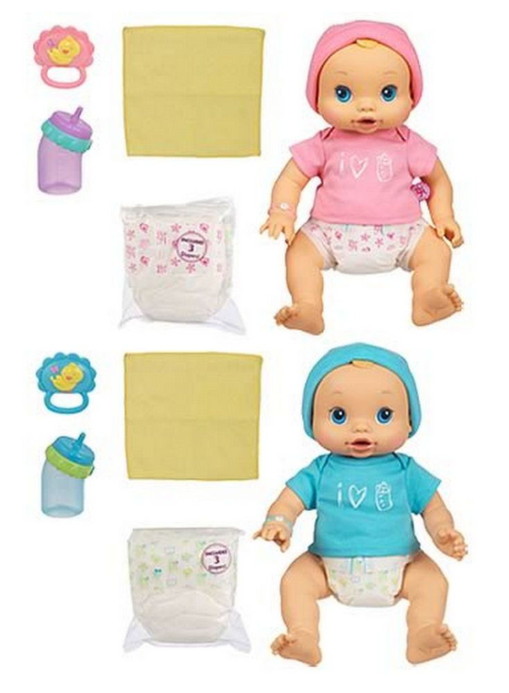 Baby Alive Wets Wiggles Boy and Girl Twin Doll Set Interactive Toy Original 2006 #Hasbro