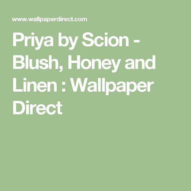 Priya by Scion - Blush, Honey and Linen :Wallpaper Direct