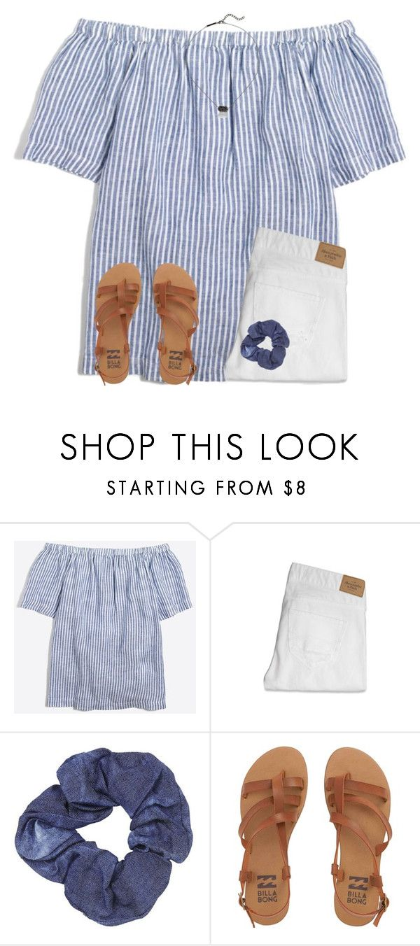 """""""no school Friday"""" by ponyboysgirlfriend ❤ liked on Polyvore featuring J.Crew, Abercrombie & Fitch, Topshop, Billabong and Kendra Scott"""