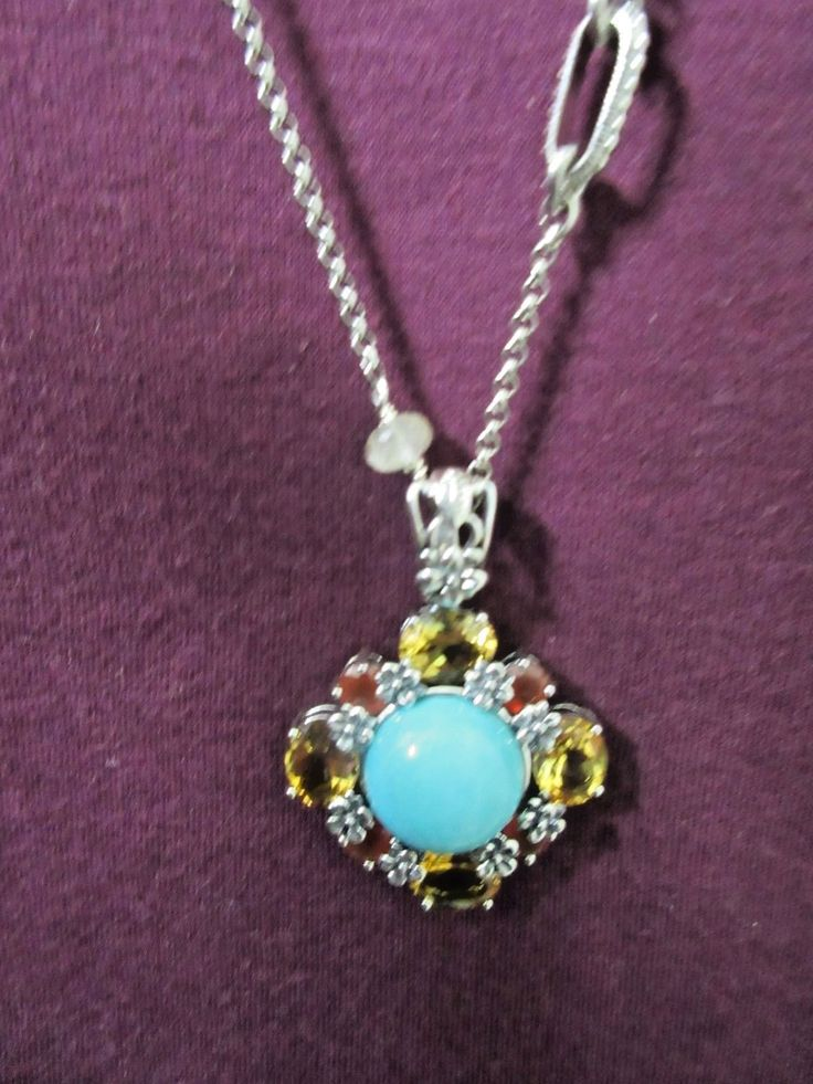 US $299.99   WONDERFUL STEPHEN DWECK STERLING TURQUOISE, AGATE & CITRINE NECKLACE NWT $595 | eBay