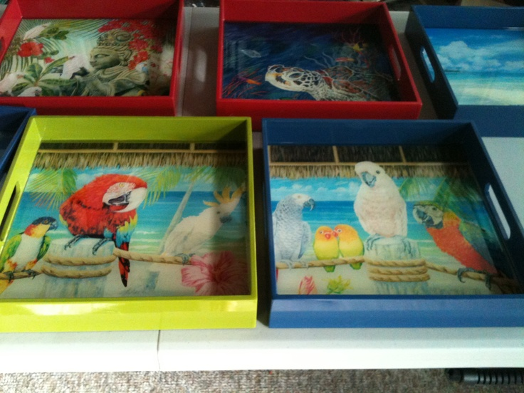 Beautiful hand made trays by Danielle Perry  www.danielleperryfineart.com