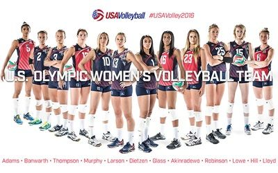 USA Olympic women's volleyball team 2016 Rio GO USA !